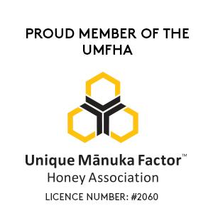 Member of the UMFHA - Unique Manuka Factor Honey Association