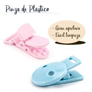 RUBY - Pack 4 Chupeteros de Colores Diferentes. Cadena Chupete Bebé con botón fijo adjustable (Marinero)