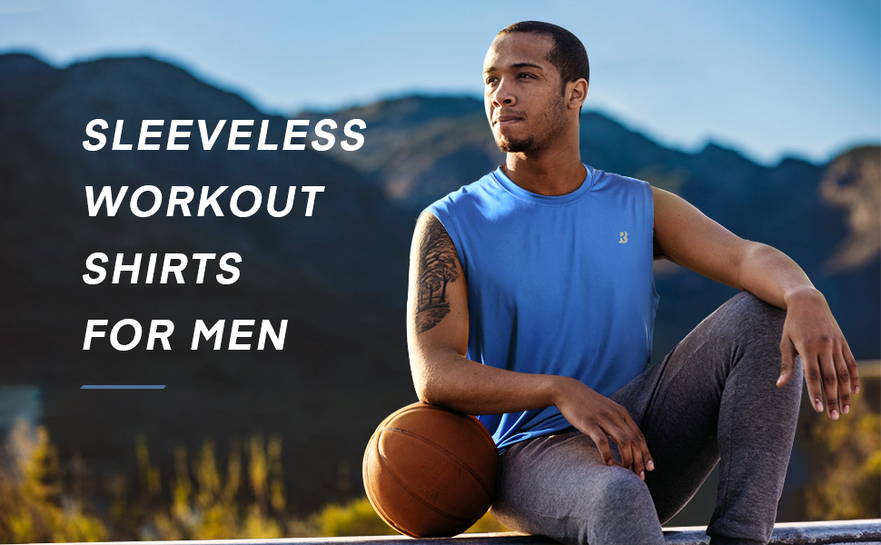Roadbox 3 pack Workout Sleeveless Shirts for Men Athletic Gym Basketball running Quick Dry Tank Tops