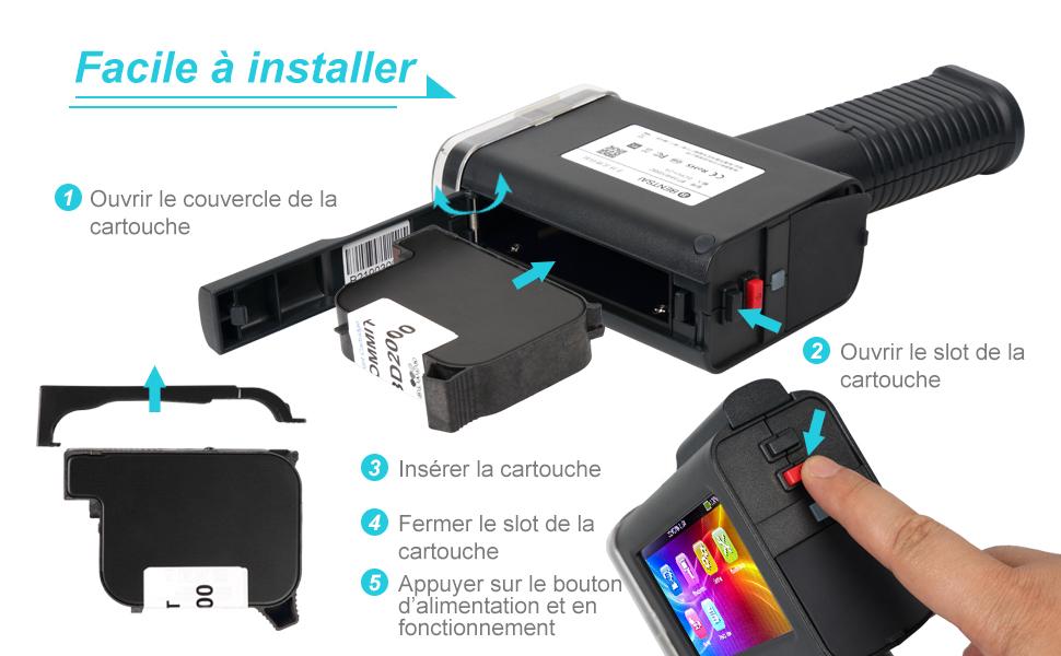imprimante à jet d'encre portable