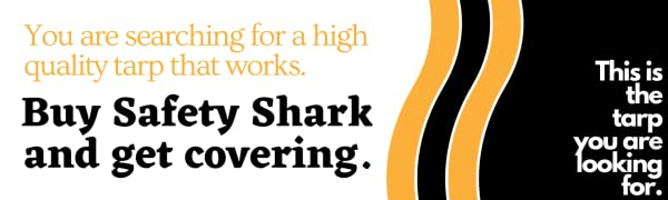 Safety Shark Tarps Heavy Duty Waterproof. High Quality Tarps Pool Cover or Camping.