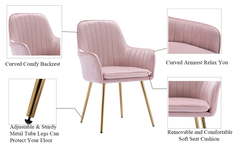 details of the  pink  chair
