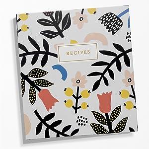 Recipe Binder Cards Flowers Memories Family