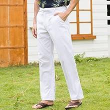 white linen pants men,mens casual pants,mens slim white linen pants,mens beach pants,men linen pants