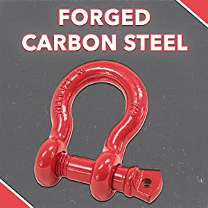 Heavy Duty Shackle, Forged Carbon Steel, Alloy Screw Pin, Mytee Products