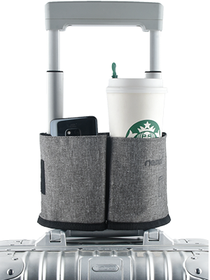 suitcase cup holder