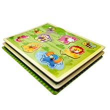 Toddler Puzzles Wooden Peg Puzzle for Kids 1 2 3 Years Old Matching Game Learning Educational Toys