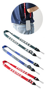 Fashionable prints on twill nylon crossbody strap with one-touch buckles on both ends