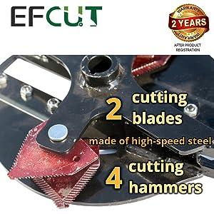 EFCUT wood chipper unique cutting system
