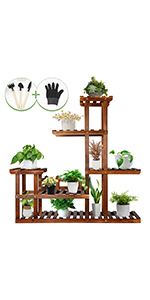 OurWarm Wood Plant Stands for Indoor Plants