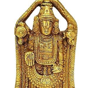 Lord Balaji statue brass gold idol