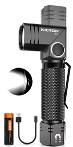 700 Lumen Nicron Led Mini Taschenlampe 90 Grad Drehbar Kopf Ip65 Wasserdicht M