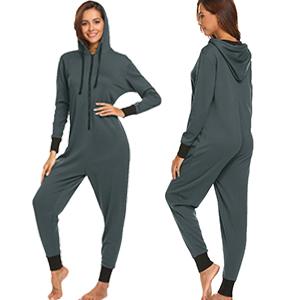 Ekouaer Women's Non-Footed Onesie Pajamas Jumpsuit