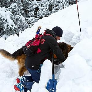ALPIDEX Lawinensonde 260 cm oder 320 cm und Alu Schneeschaufel im Set
