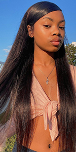 4X4 Straight Lace Front Wig Human Hair