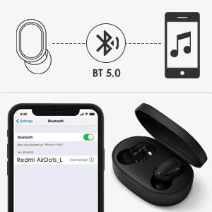Xiaomi Redmi airdots 2 /Écouteur Bluetooth 5.0 TWS /Écouteur sans fil avec bo/îtier de chargement IPX5 Casque anti-transpiration anti-bruit Casque micro int/égr/é pour,15heures HIFI【Derni/ère Version 2020】
