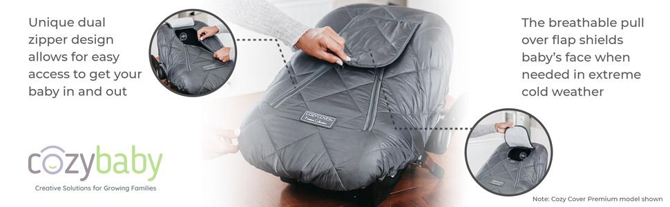 Cover Cover, Cozy Cover original, original Cozy Cover, dual zipper, breathable shield,
