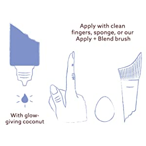 Undone skin tint glossier cc cream dewy skin bb cream pur foundation 4 in 1 flower beauty natural