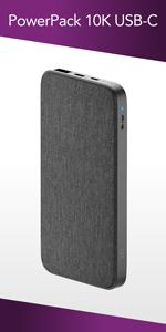 PowerPack 10K USB-C Fabric