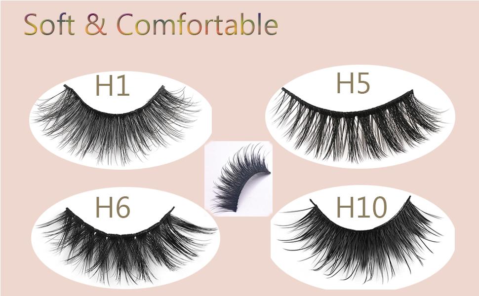 3D Soft Natural False Eyelashes