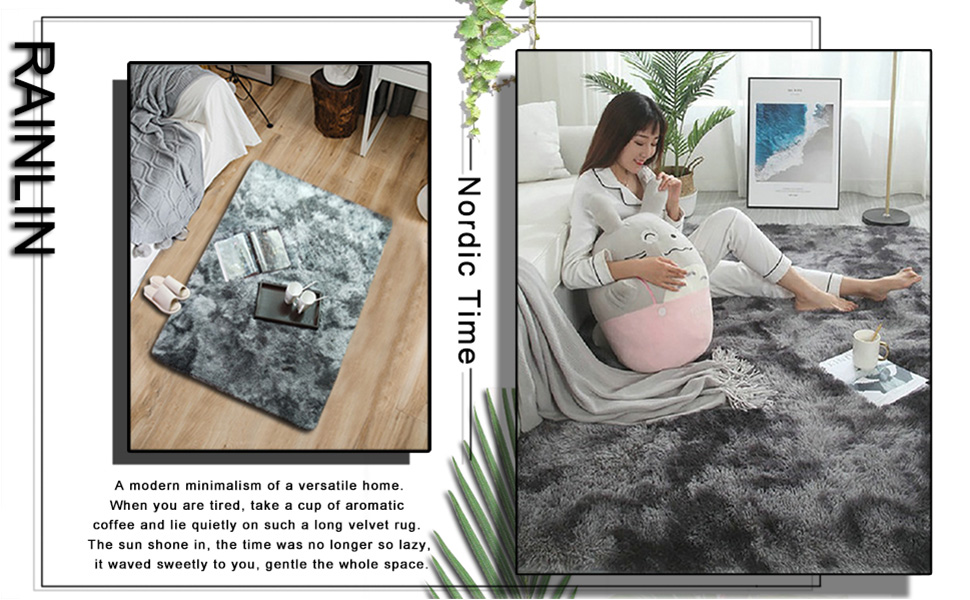 throw rug washable faux sheepskin fur carpet multi colored accent carpet anti-skid rectangular rug