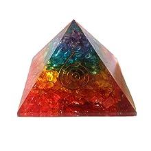 7 chakra hexagonal orgone pendant