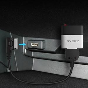 Land Rover Jaguar Airdual Bluetooth pour r/écepteur de musique pour Range Rover c/âble iPod compris
