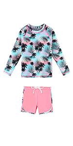 2pcs long Sleeve Swimsuits