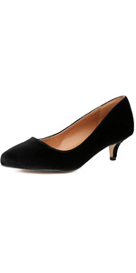 kitten heel pumps for women