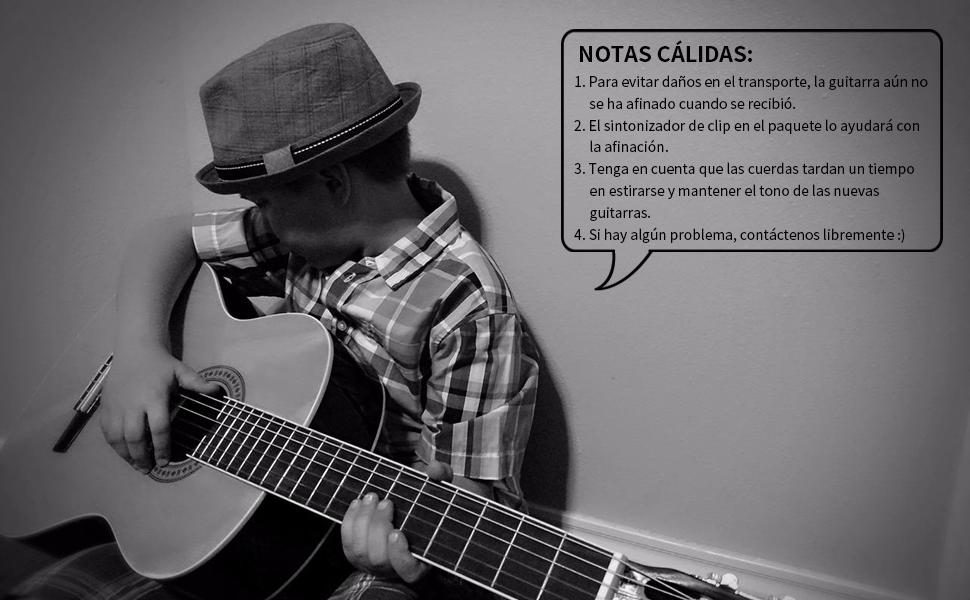 Winzz Guitarra Clásica Tamaño Completo 4/4 para Adultos y ...