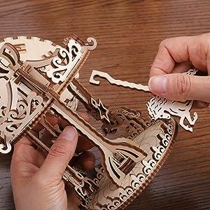 puzzle 3d legno