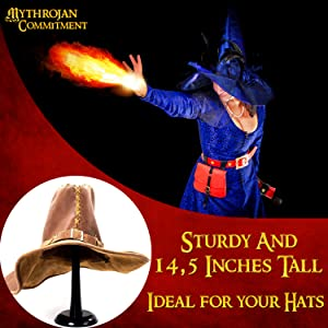 Hat witch cosplay costume stand helm hat SCA lady collector display stands wig wall knight medieval
