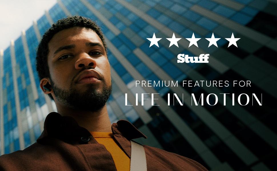 life in motion, premium, features, male, model, man, earphones, stuff tv, tech, review, 5 star