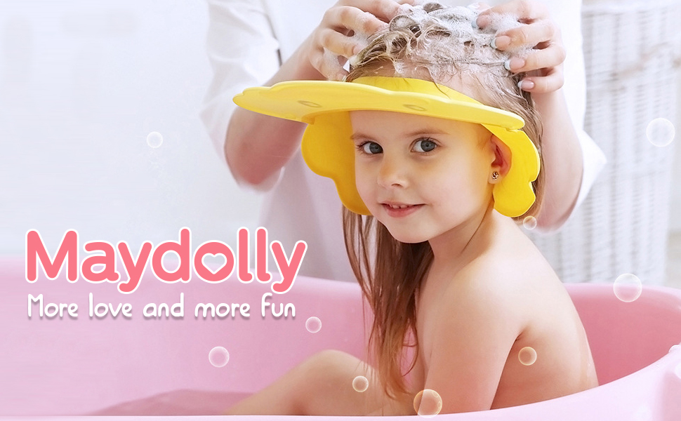 Baby Shower Cap Visor with Ear Protection for Bathing Washing Hair