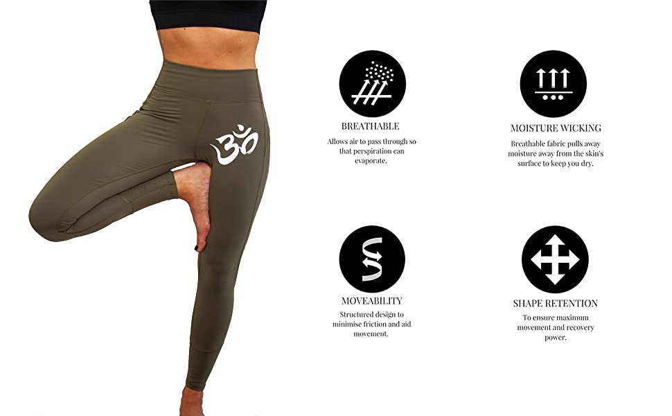 Breathable, Moisture Wicking, Shape Retention, and Mobile Yoga Stretchy Pants for All Activities
