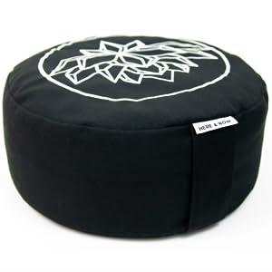 meditation cushion, lotus, embroidered
