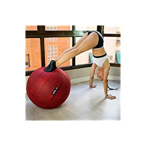 COOLDOT Bola de Yoga para Adultos Pelota Asiento Silla con Cubierta Asa Incluye Pelota de Ejercicio Bombín para Casa Oficina Pilates Yoga con ...