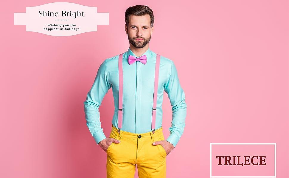 suspenders for men with bowtie set women