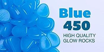 Blue colored 450 high quality glow rocks