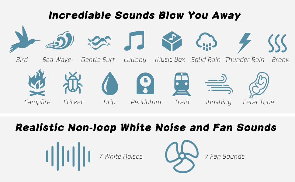 white noise machine, fan sound machine, pink noise machine