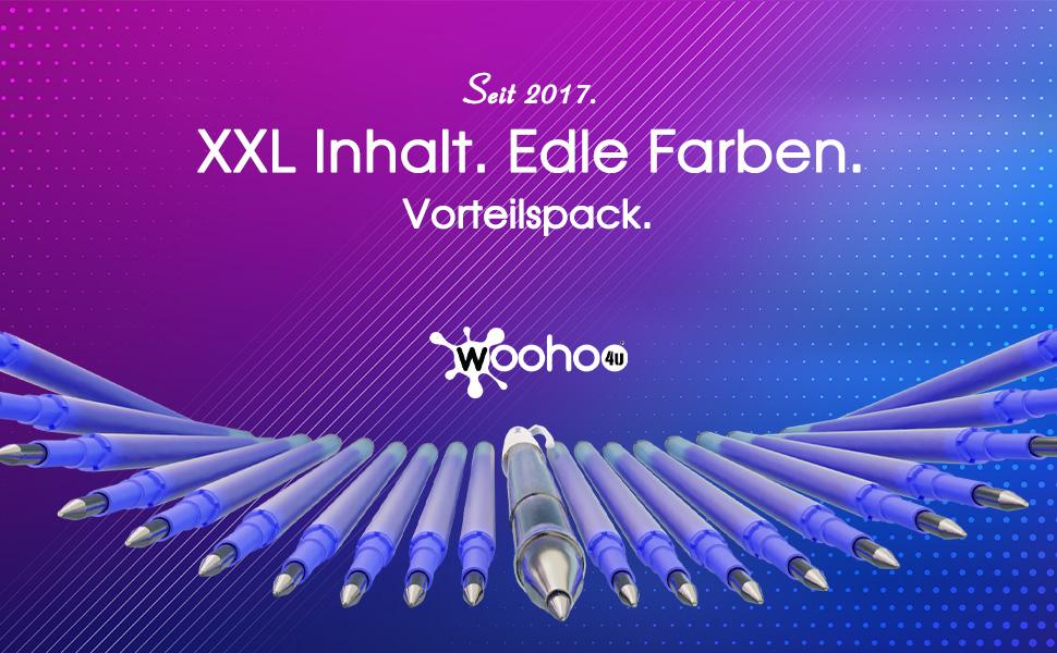 radierbare stifte Ersatzminen Kugelschreiber woohoo4u