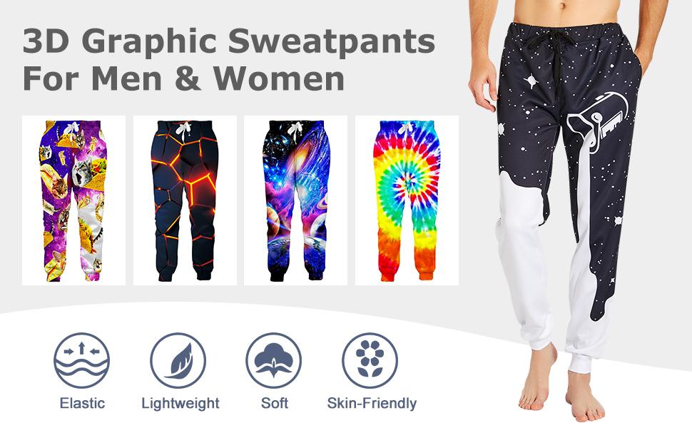 Graphic Sweatpants Unisex Athletic Pants