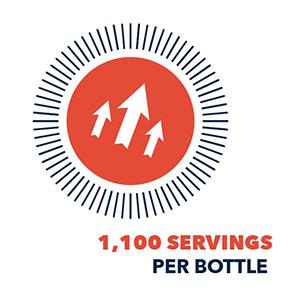 1100 servings per bottle