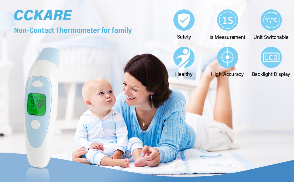 Non-Contact Thermometer for Babies, Kids and Adults