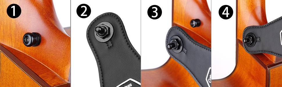 guitar strap retainer