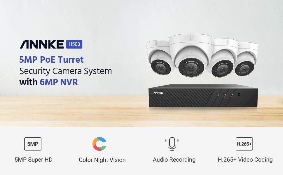 5MP POE security ip camera system audio