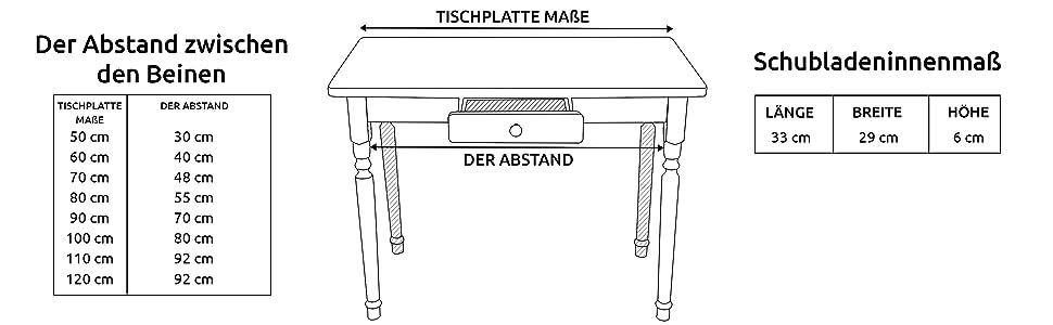 Gr/ö/ßen Magnetic Mobel Esstisch K/üchentisch Tisch Kiefer massiv Restaurant Holz Speisetisch in versch 50x60, Calvados
