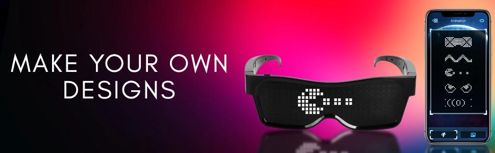 eyeflashes light up led rave sunglasses glasses