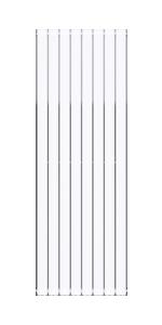 Mai /& Mai Heizk/örper flach 160x46cm in Wei/ß Paneelheizk/örper Vertikal aus Stahl