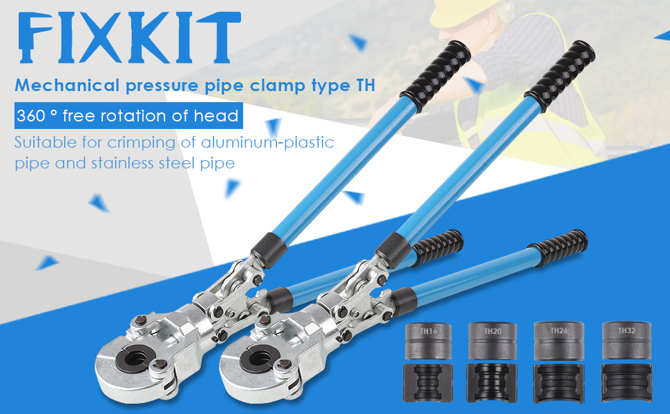 TH Tube Composite FIXKIT Pince /à Sertir TH PER /& Multicouche/Pince /à Sertir pour Tube Contour avec Mors PER /& Multicouche/16mm-20mm-25mm-32mm pour Tube PEX